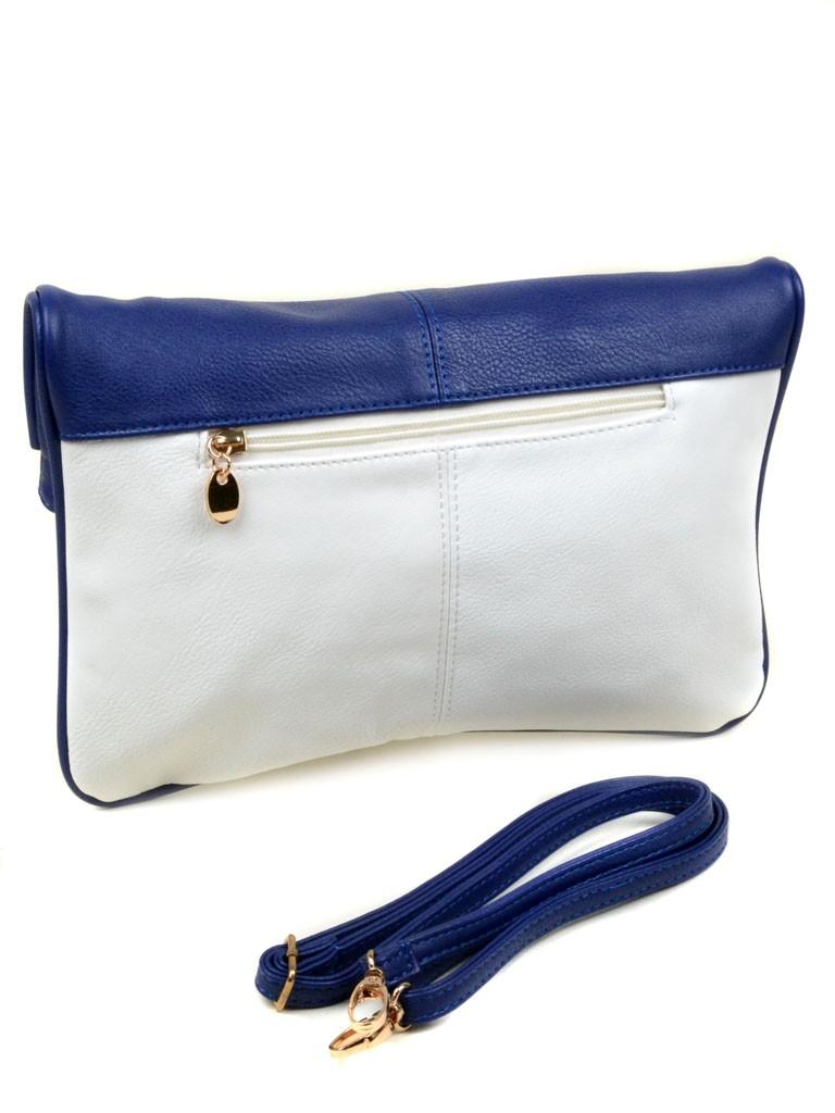 Сумка Женская Клатч иск-кожа Podium 2-2 9151 white-blue Распродажа - фото 3