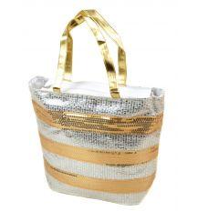 Сумка Женская Корзина текстиль PODIUM PC5599A-1 white silver Распродажа