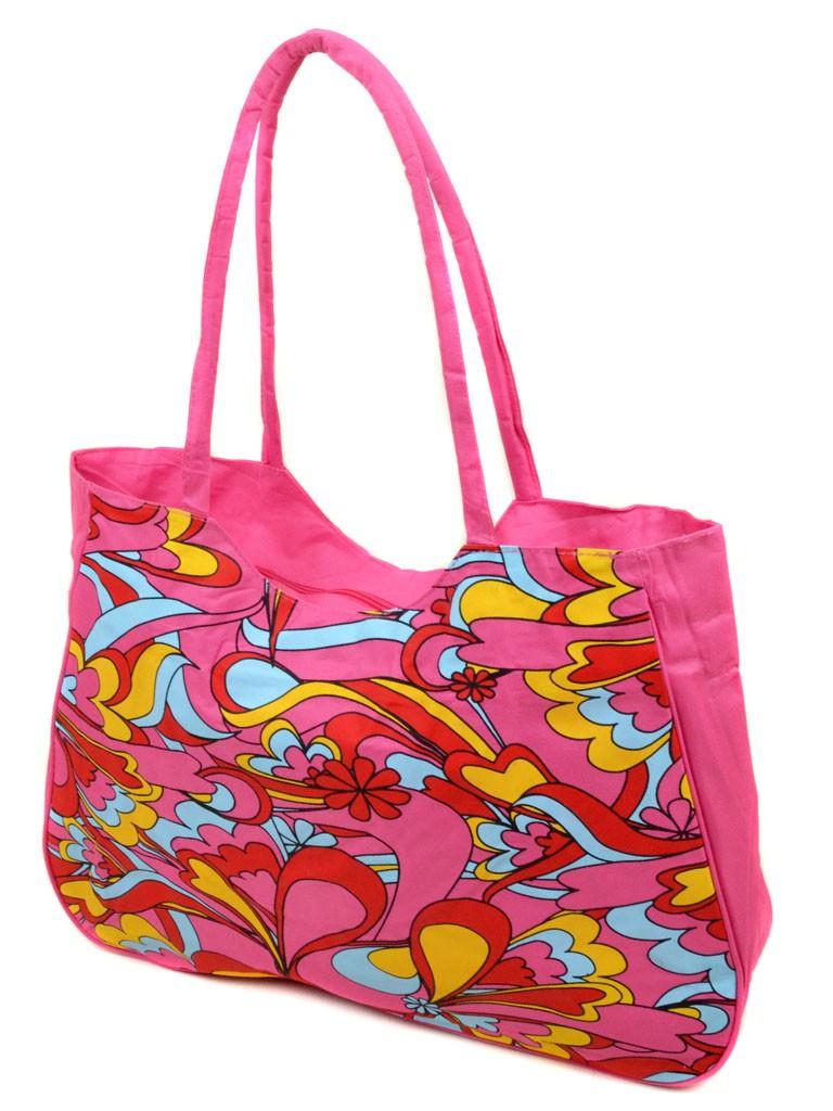 Сумка Женская Пляжная текстиль Podium 1323 pink