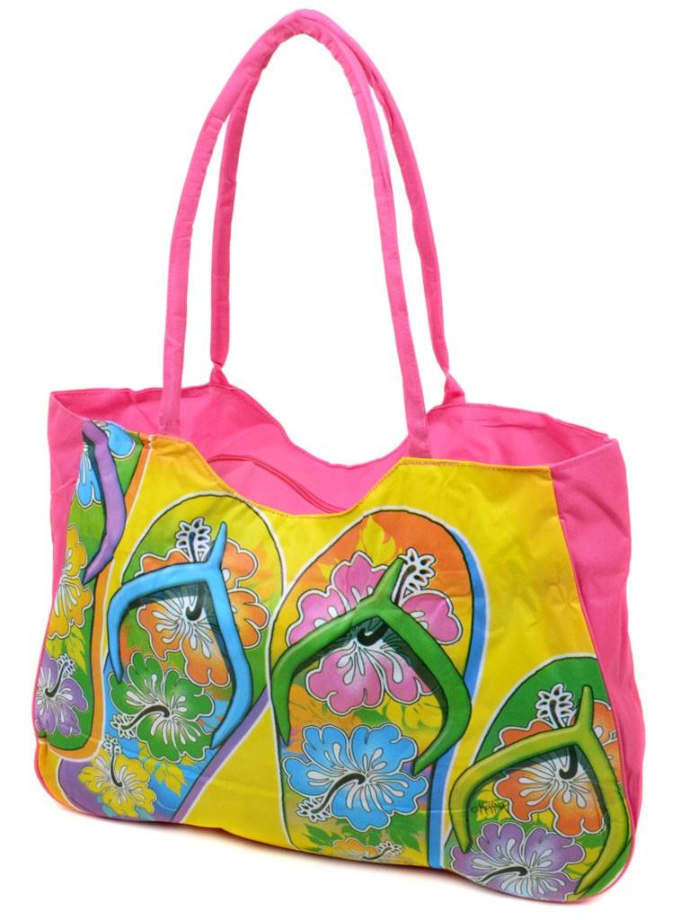 Сумка Женская Пляжная текстиль Podium 1327 pink