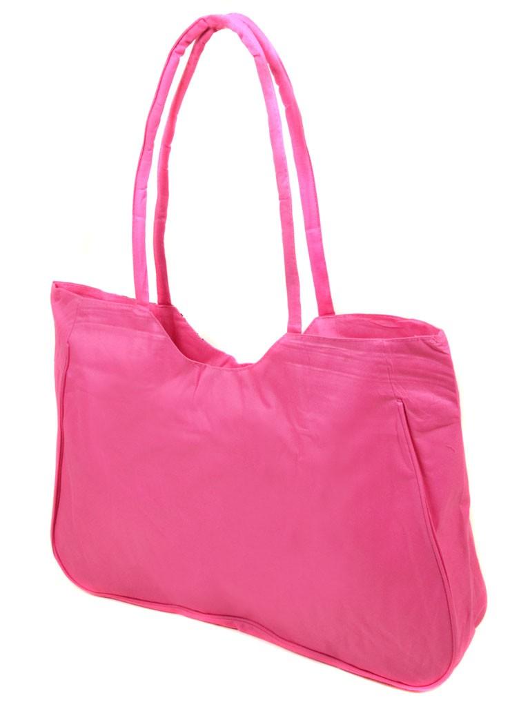 Сумка Женская Пляжная текстиль Podium /1331 pink