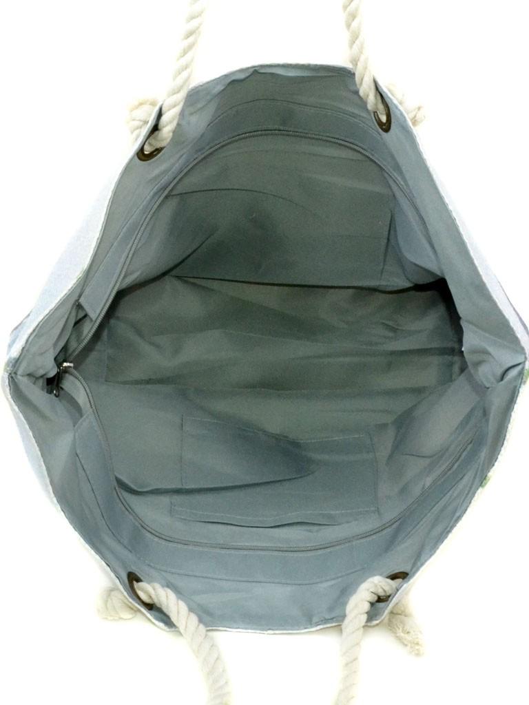 Сумка Женская Пляжная текстиль Podium печать PC 9040-1 dark-brown