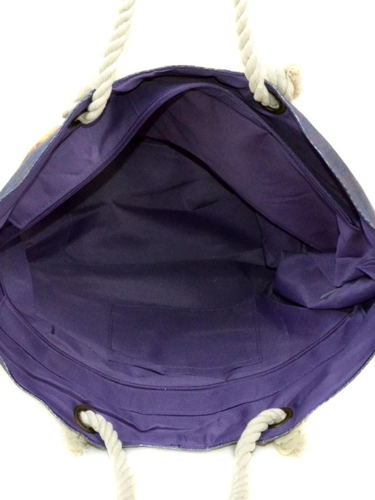 Сумка Женская Пляжная текстиль Podium печать PC 9040-1 navi - фото 4