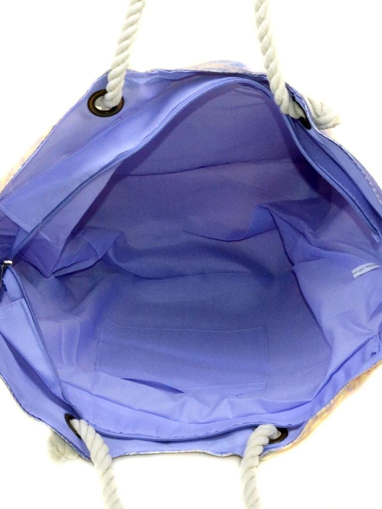 Сумка Женская Пляжная текстиль Podium печать PC 9040-1 purple - фото 4