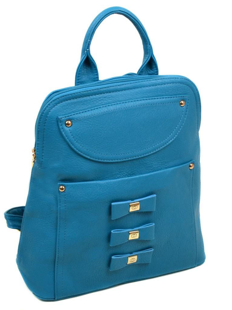 Сумка Женская Рюкзак иск-кожа 06-1 16210 blue