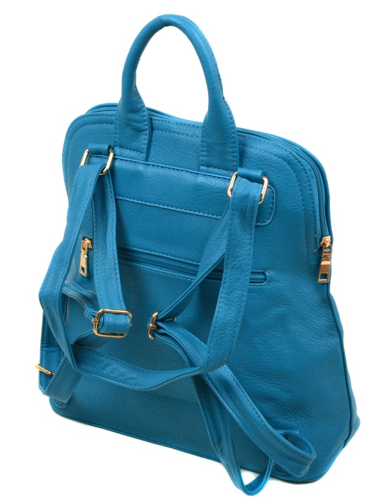 Сумка Женская Рюкзак иск-кожа 06-1 16210 blue - фото 3