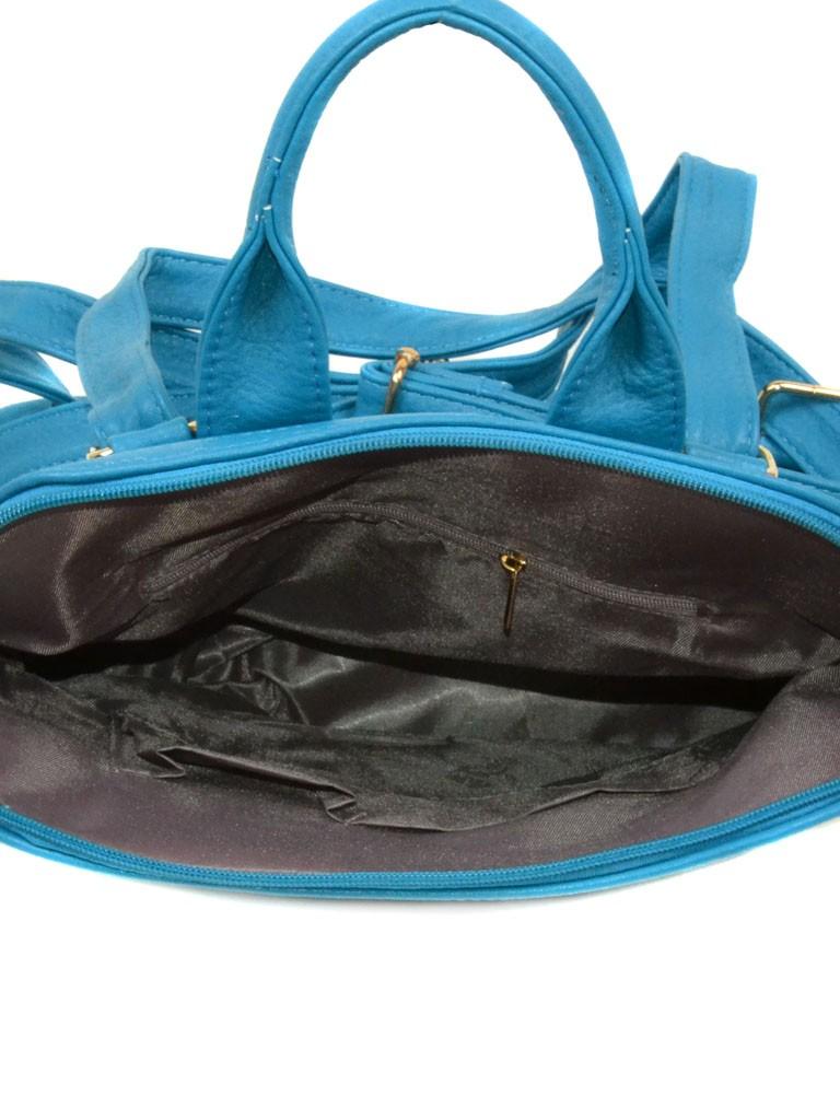 Сумка Женская Рюкзак иск-кожа 06-1 16210 blue - фото 4