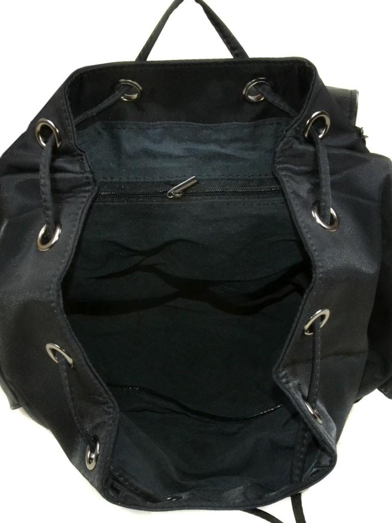 Сумка Женская Рюкзак нейлон 2462 black - фото 4