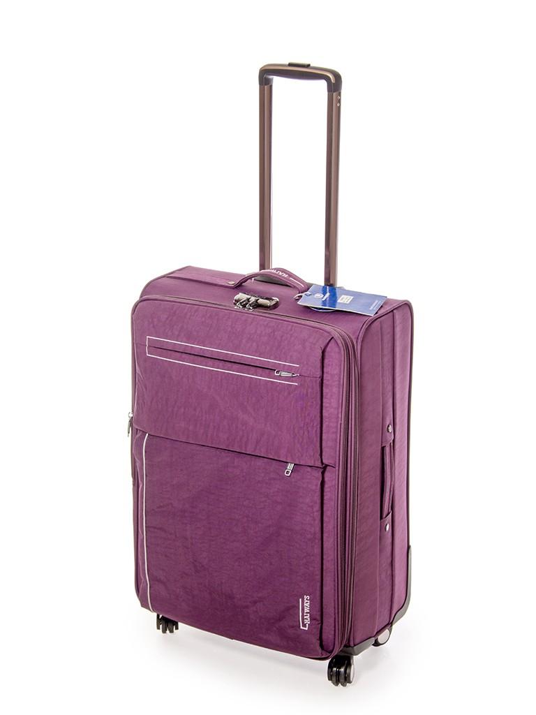 Дорожная Чемодан 1 Большой текстиль Haiways 1302 violet