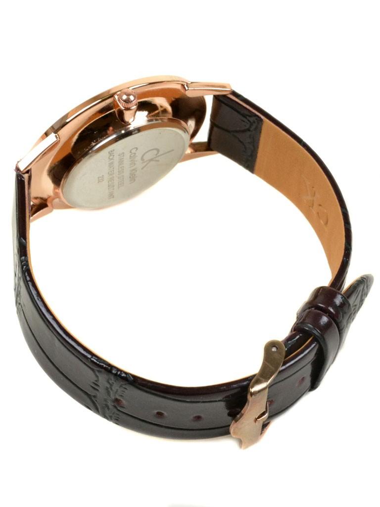 Часы Кварц Женские 4010-4 золото ремешок иск-кожа