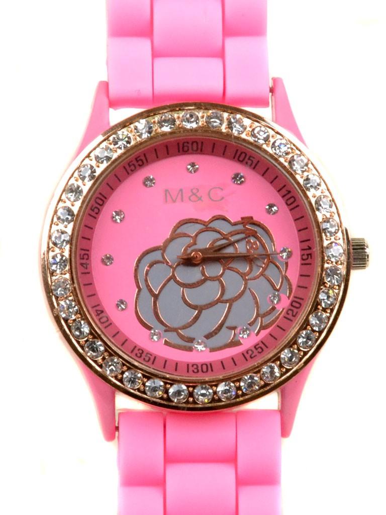 Часы Кварц Женские 4016-3 роз ремешок силикон