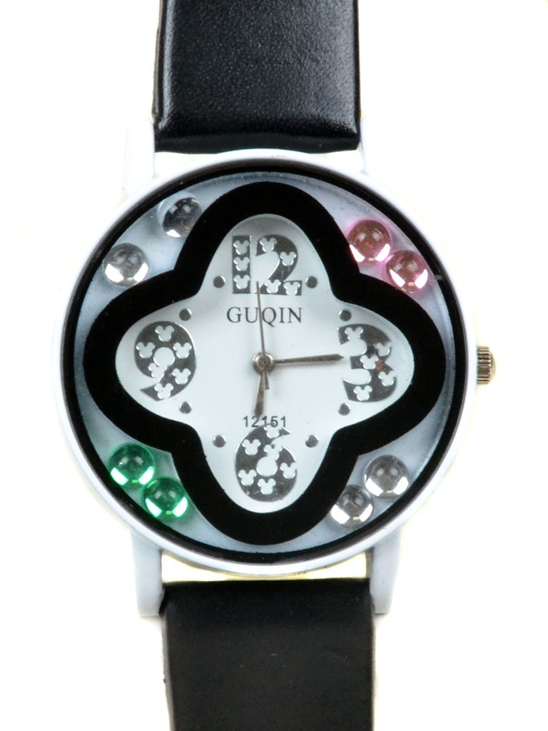 Часы Кварц Женские 4017-6 чер подростковые