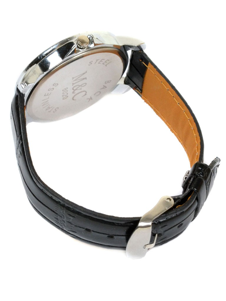 Часы Кварц Женские 5001 серебро ремешок иск-кожа - фото 3