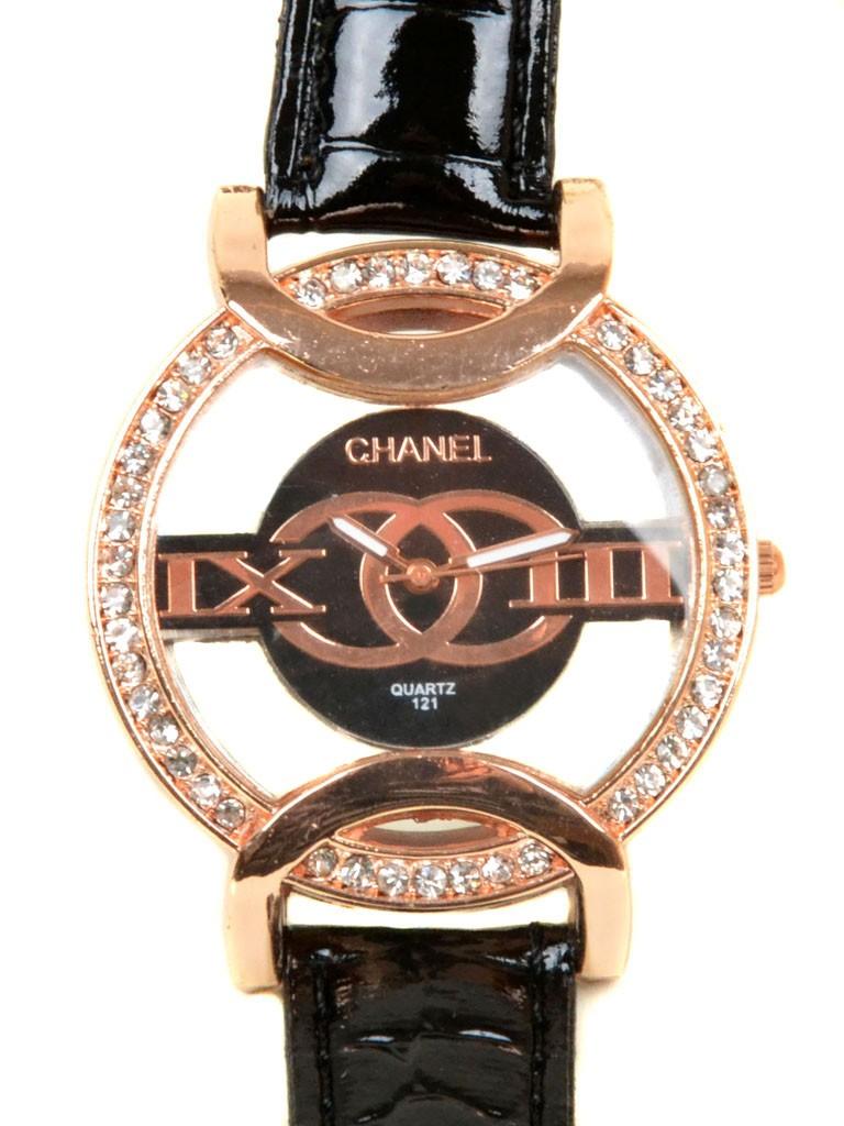 Часы Кварц Женские 5001-6 золото ремешок иск-кожа - фото 3