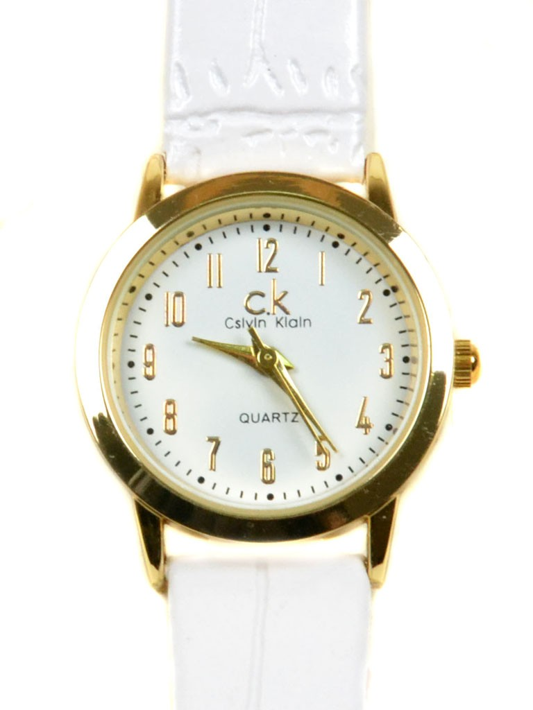 Часы Кварц Женские T3002-3 золото ремешок иск-кожа