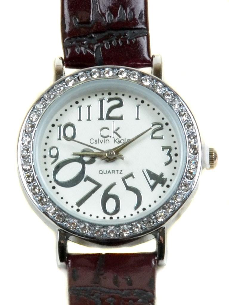 Часы Кварц Женские T3003-5 серебро ремешок иск-кожа
