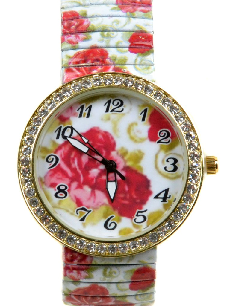 Часы Кварц Женские T3006-1 золото ремешок резинка
