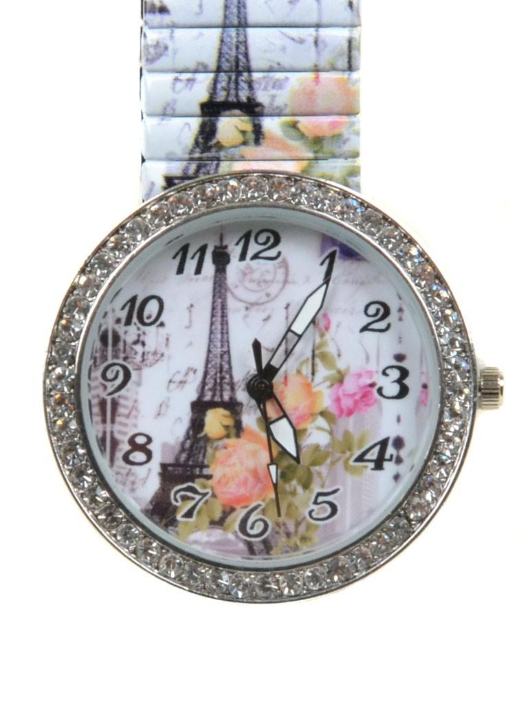 Часы Кварц Женские T3006-2 серебро ремешок резинка