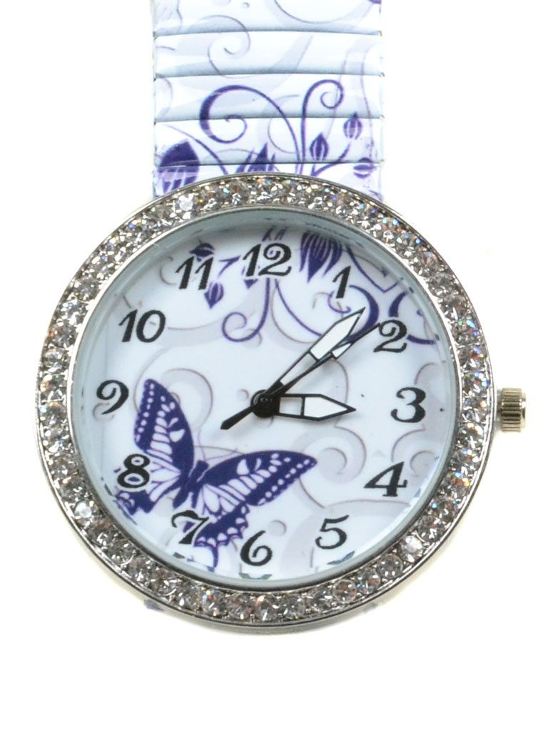 Часы Кварц Женские T3006-3 серебро ремешок резинка