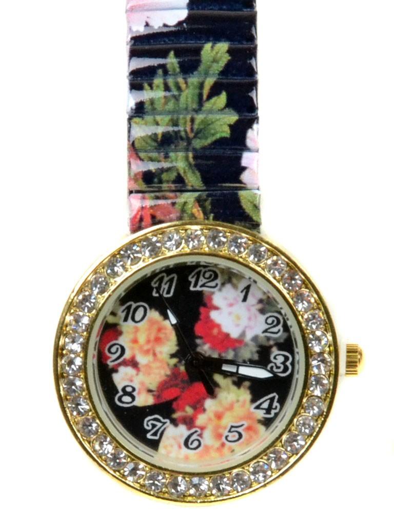 Часы Кварц Женские T3007-1 золото ремешок резинка