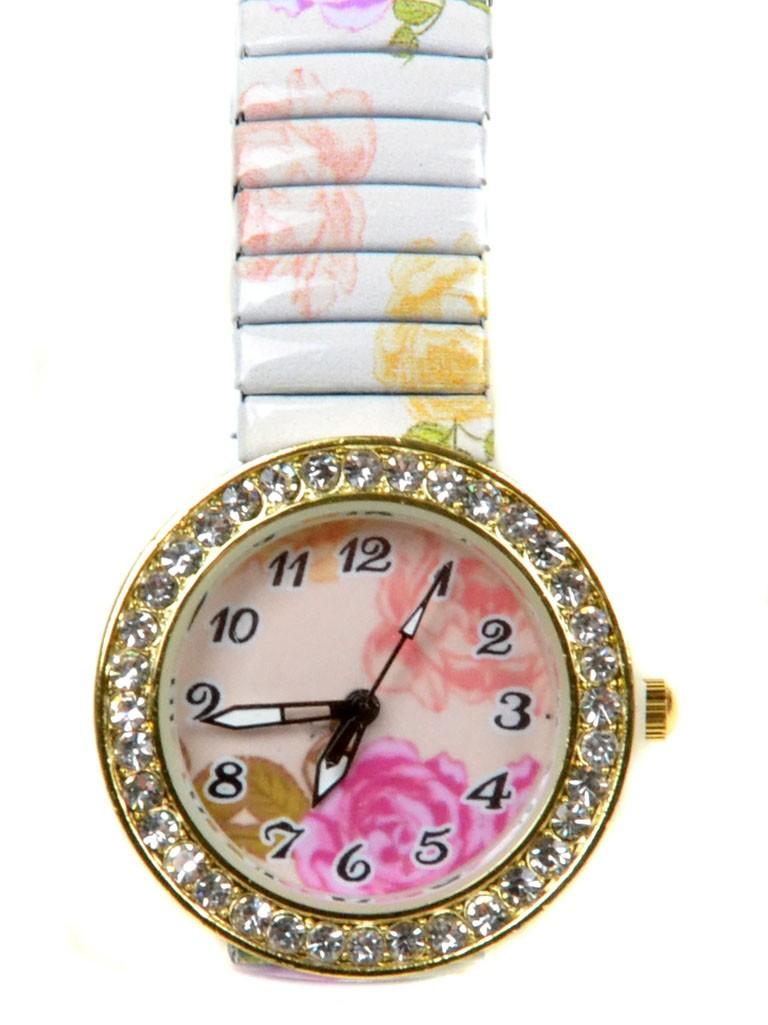 Часы Кварц Женские T3007-2 золото ремешок резинка