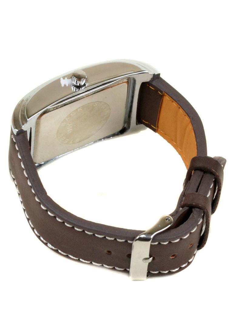 Часы Кварц Мужские 4008-1 серебро ремешок иск-кожа