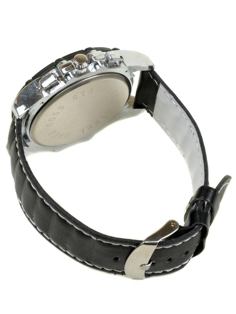 Часы Кварц Мужские 4009-2 чер ремешок иск-кожа - фото 3