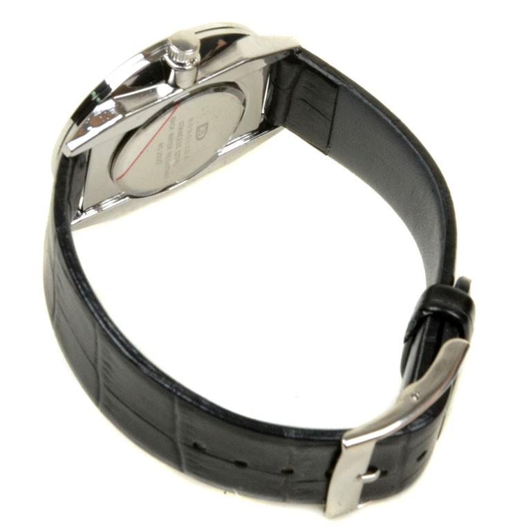 Часы Кварц Мужские 8033 серебро ремешок иск-кожа