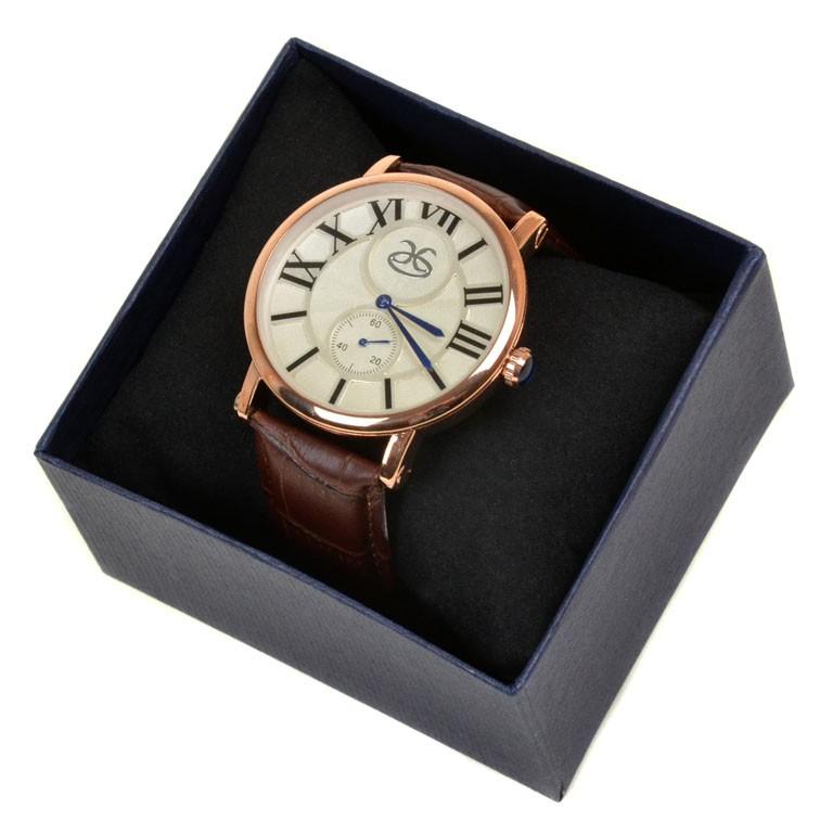 Часы Кварц Мужские 8047 золото ремешок иск-кожа