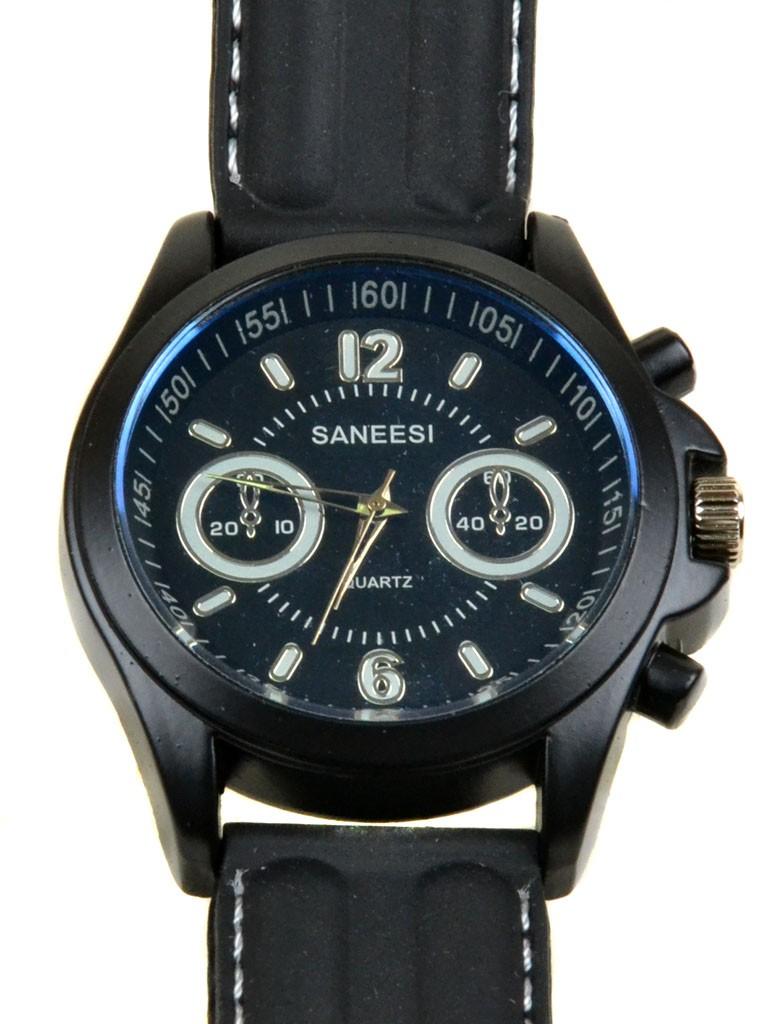 Часы Кварц Мужские T4001-2 черный ремешок силикон
