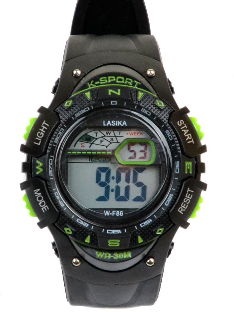Часы Спорт 5001-10 чер водонепроницаемые