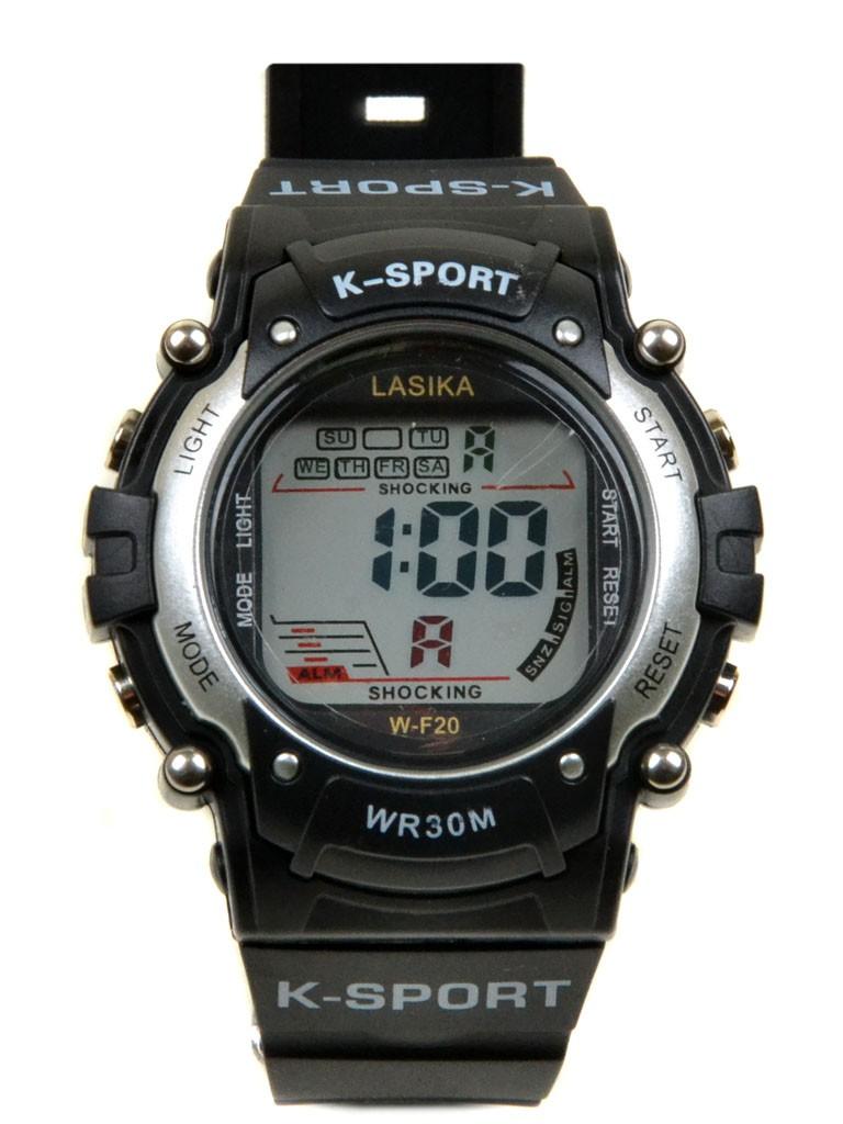 Часы Спорт 5001-2 сер водонепроницаемые