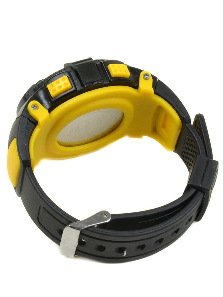 Часы Спорт 5001-3 желт водонепроницаемые