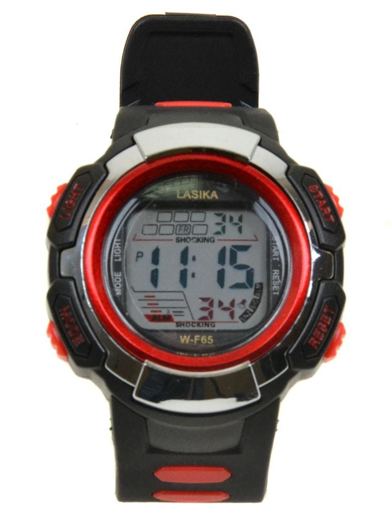 Часы Спорт 5001-4 крас водонепроницаемые