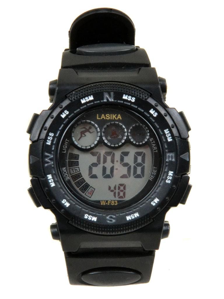 Часы Спорт 5001-5 чер водонепроницаемые