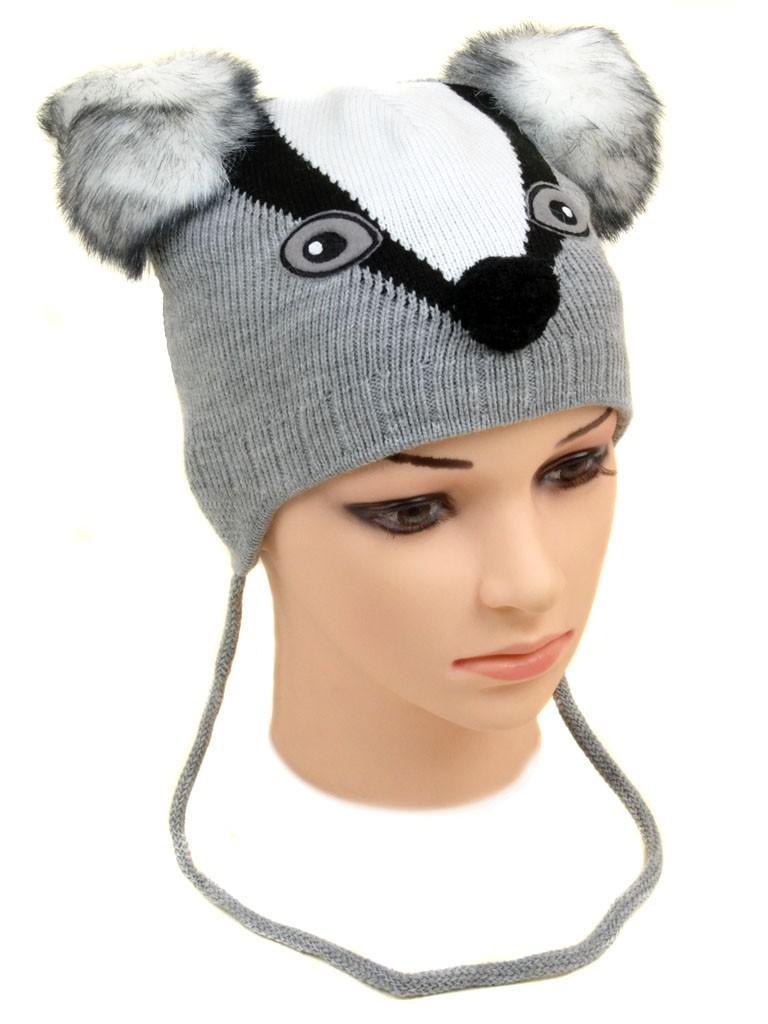 Шапка Детская вязка 1122 grey