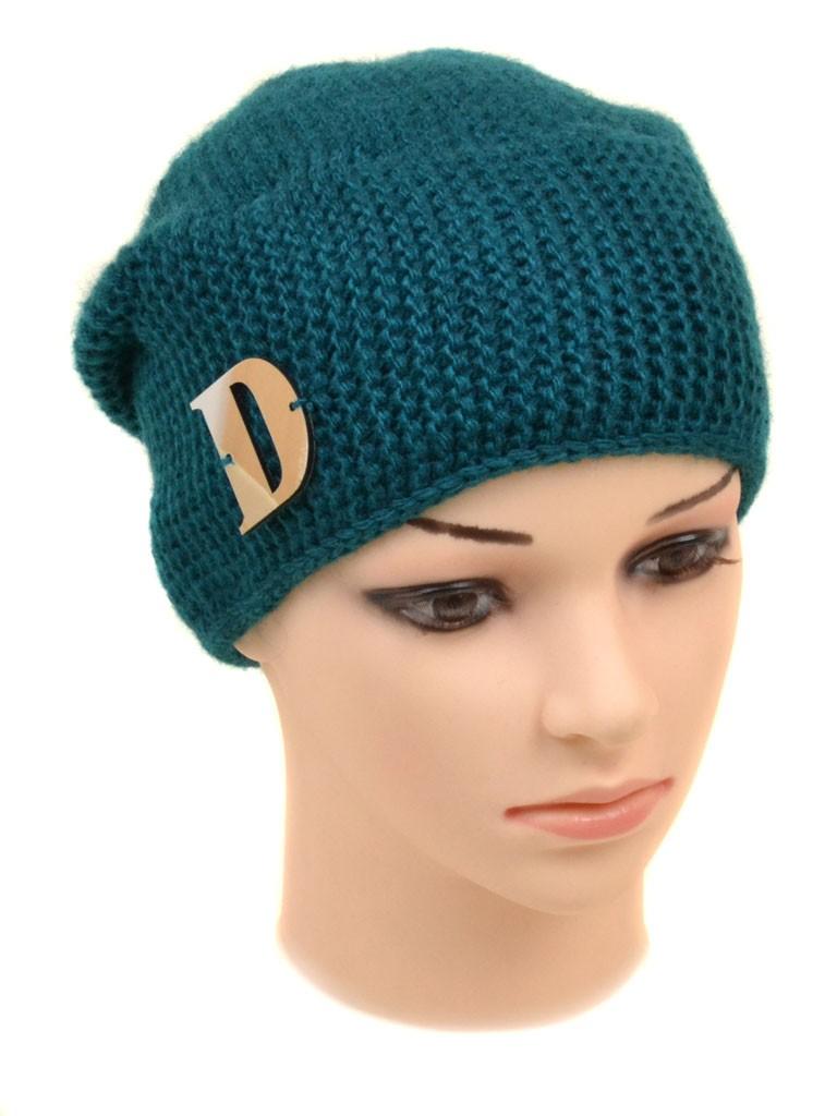 Шапка Женская вязка 729-6 emerald