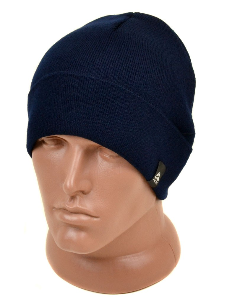 Шапка Мужская вязка 1116 blue