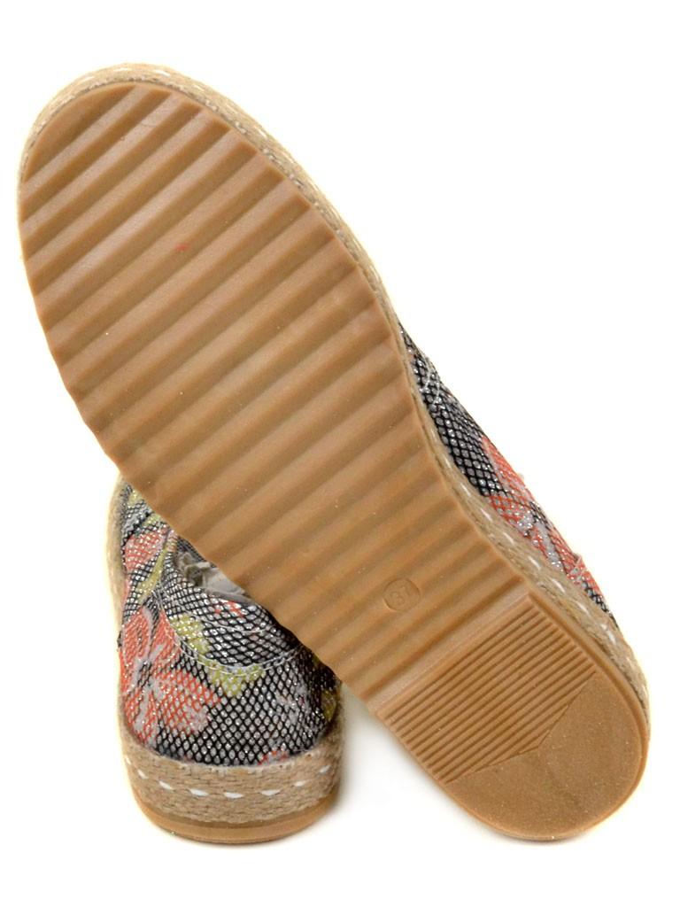 Обувь Женская  Эспадрильи 003 Flower-silver 36(р) - фото 3