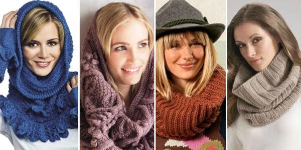 Купить красивый теплый шарф хомут недорого онлайн в интернет-магазине