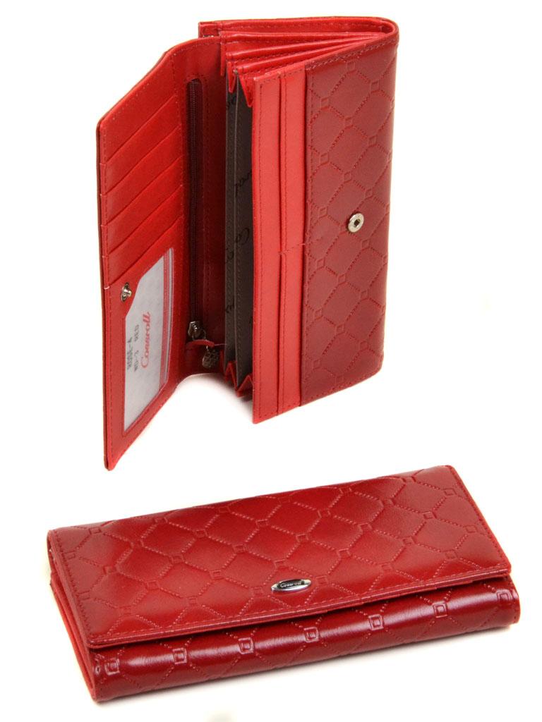 Кошелек Cossrol Женский Rose Series-4 иск-кожа WD-3 red