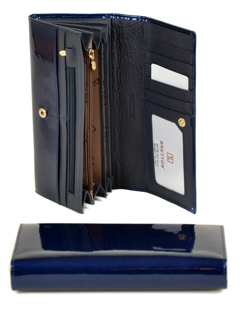 Кошелек Gold кожа BRETTON W0807 dark-blue - фото 4