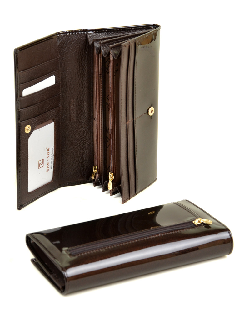 Кошелек Gold кожа BRETTON W501 dark-coffee - фото 4
