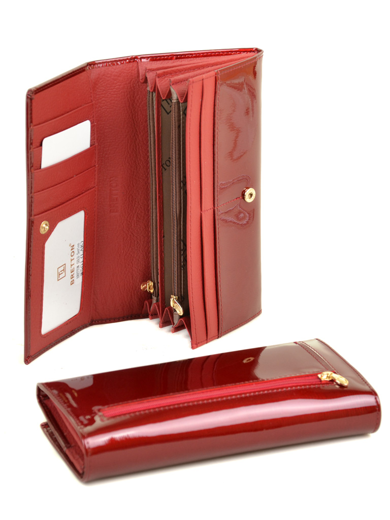 Кошелек Gold кожа BRETTON W501 red - фото 4