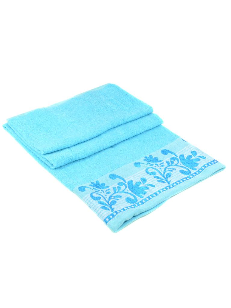 Полотенце Банное махра 2909 l-blue