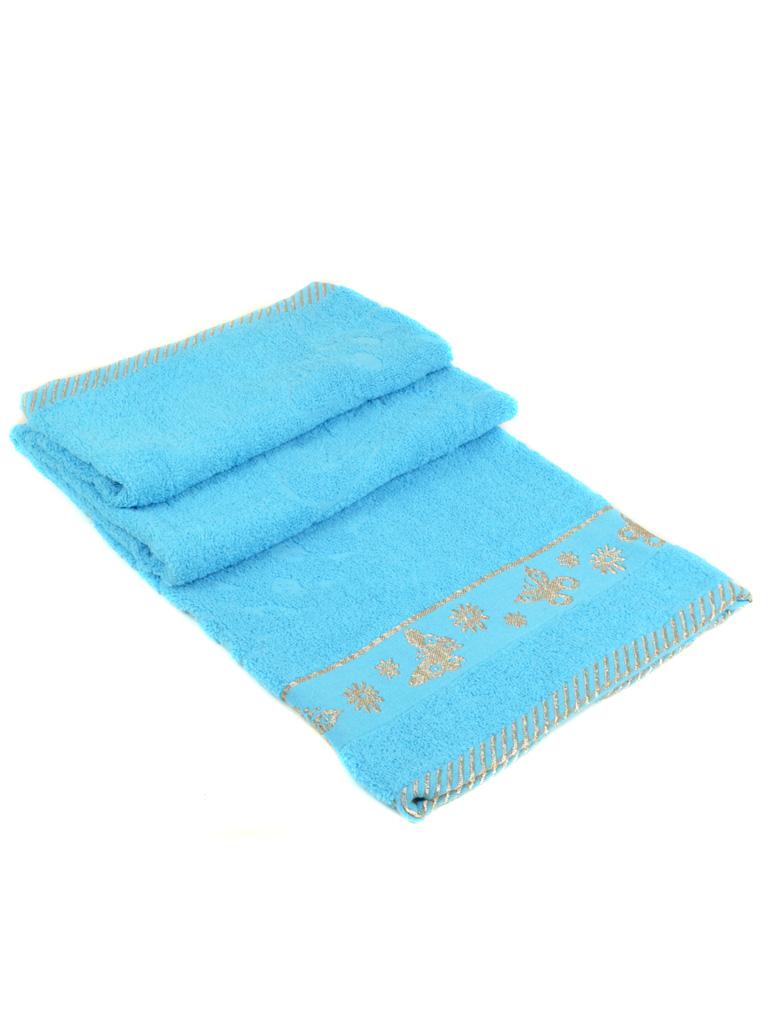 Полотенце Банное махра 2911 l-blue