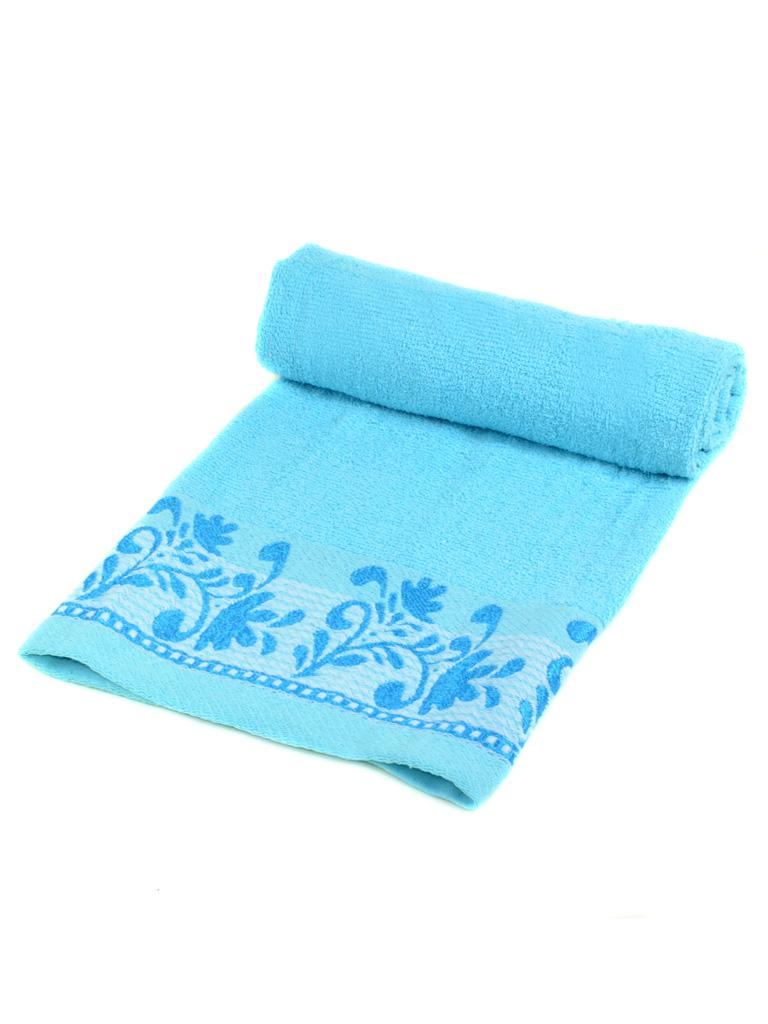 Полотенце Лицевое махра 2909-1 l-blue