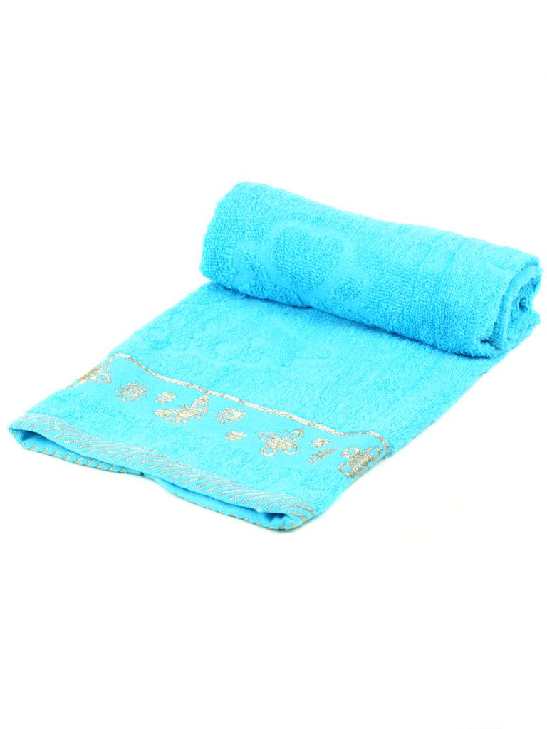 Полотенце Лицевое махра 2911-1 l-blue