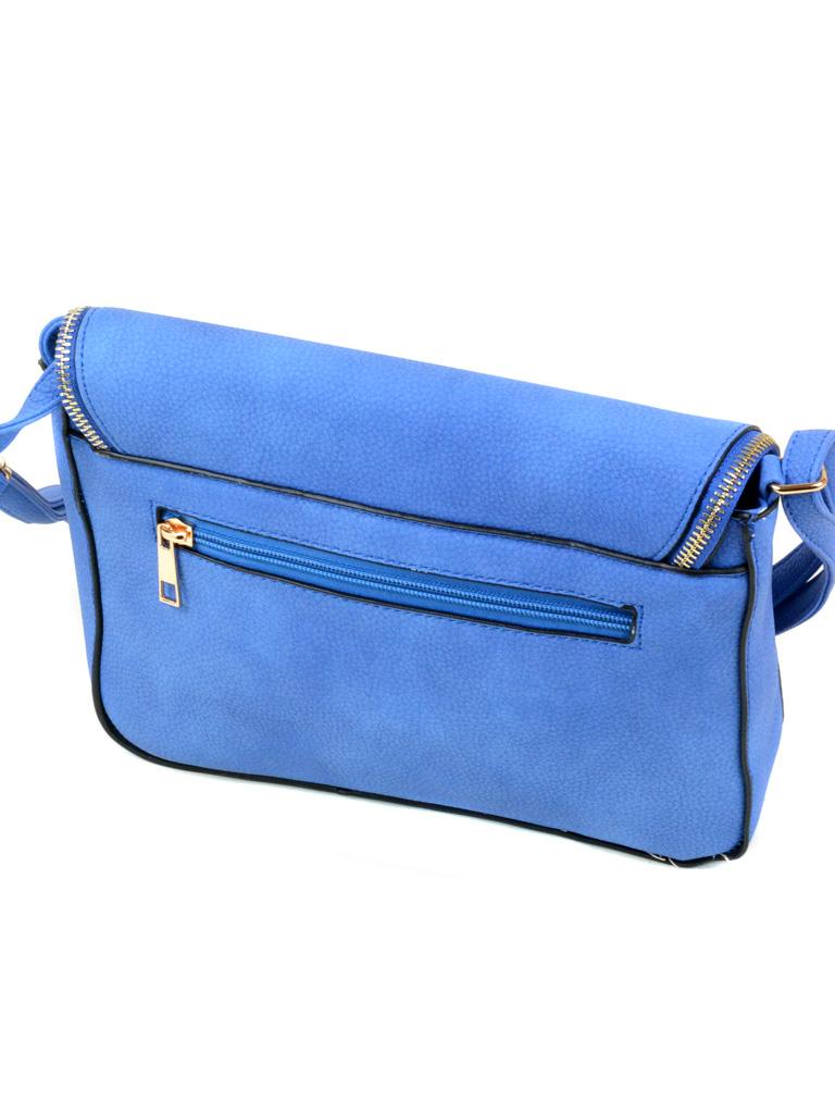 Сумка Женская Клатч иск-кожа 1-02 8166 blue - фото 3