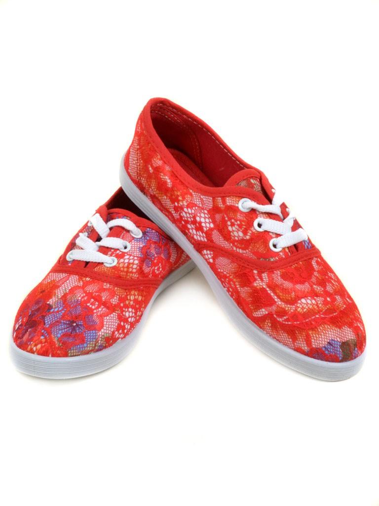 Кеды 922 Flower-red Распродажа